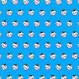 Cow - emoji pattern 43. Pattern of a emoji cow that can be used as a background, texture, prints or something else vector illustration