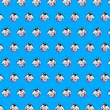 Cow - emoji pattern 65. Pattern of a emoji cow that can be used as a background, texture, prints or something else vector illustration