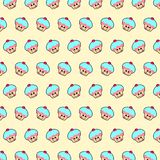 Cupcake - emoji pattern 11 stock illustration