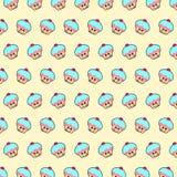 Cupcake - emoji pattern 11 stock illustration