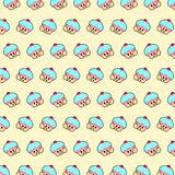 Cupcake - emoji pattern 26. Pattern of a emoji cupcake that can be used as a background, texture, prints or something else vector illustration