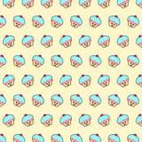 Cupcake - emoji pattern 56 royalty free illustration