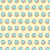 Cupcake - emoji pattern 60. Pattern of a emoji cupcake that can be used as a background, texture, prints or something else royalty free illustration