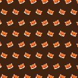 Fox - emoji pattern 02. Pattern of a emoji fox that can be used as a background, texture, prints or something else stock illustration