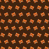 Fox - emoji pattern 20. Pattern of a emoji fox that can be used as a background, texture, prints or something else vector illustration