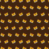 Fox - emoji pattern 21. Pattern of a emoji fox that can be used as a background, texture, prints or something else stock illustration