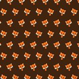 Fox - emoji pattern 22. Pattern of a emoji fox that can be used as a background, texture, prints or something else stock illustration