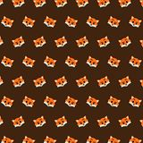Fox - emoji pattern 24. Pattern of a emoji fox that can be used as a background, texture, prints or something else vector illustration