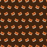Fox - emoji pattern 25. Pattern of a emoji fox that can be used as a background, texture, prints or something else stock illustration