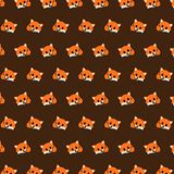Fox - emoji pattern 27. Pattern of a emoji fox that can be used as a background, texture, prints or something else vector illustration