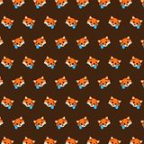 Fox - emoji pattern 30. Pattern of a emoji fox that can be used as a background, texture, prints or something else royalty free illustration
