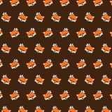 Fox - emoji pattern 36. Pattern of a emoji fox that can be used as a background, texture, prints or something else vector illustration