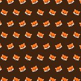 Fox - emoji pattern 38 royalty free illustration