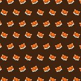Fox - emoji pattern 44. Pattern of a emoji fox that can be used as a background, texture, prints or something else stock illustration