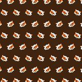 Fox - emoji pattern 69. Pattern of a emoji fox that can be used as a background, texture, prints or something else stock illustration