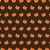 Fox - emoji pattern 43. Pattern of a emoji fox that can be used as a background, texture, prints or something else stock illustration