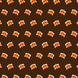 Fox - emoji pattern 46 stock illustration