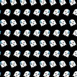 Ghost - emoji pattern 43. Pattern of a emoji ghost that can be used as a background, texture, prints or something else royalty free illustration