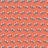 Koala - emoji pattern 18. Pattern of a emoji koala that can be used as a background, texture, prints or something else royalty free illustration