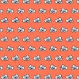 Koala - emoji pattern 24. Pattern of a emoji koala that can be used as a background, texture, prints or something else royalty free illustration
