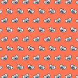 Koala - emoji pattern 32. Pattern of a emoji koala that can be used as a background, texture, prints or something else royalty free illustration