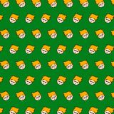Little boy - emoji pattern 43. Pattern of a emoji little boy that can be used as a background, texture, prints or something else stock illustration