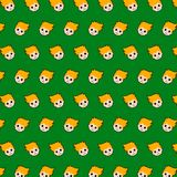 Little boy - emoji pattern 44. Pattern of a emoji little boy that can be used as a background, texture, prints or something else stock illustration