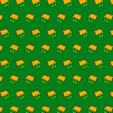 Little boy - emoji pattern 69. Pattern of a emoji little boy that can be used as a background, texture, prints or something else royalty free illustration