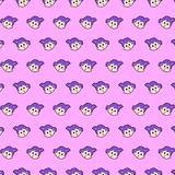 Little girl - emoji pattern 15. Pattern of a emoji little girl that can be used as a background, texture, prints or something else royalty free illustration