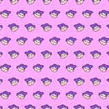 Little girl - emoji pattern 43. Pattern of a emoji little girl that can be used as a background, texture, prints or something else royalty free illustration