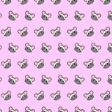 Mouse - emoji pattern 69. Pattern of a emoji mouse that can be used as a background, texture, prints or something else stock illustration