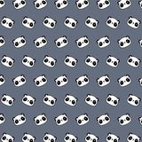Panda - emoji pattern 43. Pattern of a emoji panda that can be used as a background, texture, prints or something else stock illustration