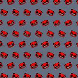 Panda - emoji pattern 65. Pattern of a emoji panda that can be used as a background, texture, prints or something else stock illustration