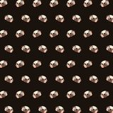 Pug - emoji pattern 69. Pattern of a emoji pug that can be used as a background, texture, prints or something else royalty free illustration