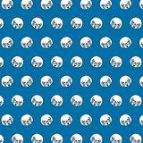 Seal - emoji pattern 65. Pattern of a emoji seal that can be used as a background, texture, prints or something else stock illustration