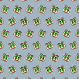 Snail - emoji pattern 43. Pattern of a emoji snail that can be used as a background, texture, prints or something else stock illustration