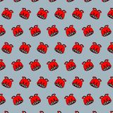 Snail - emoji pattern 65. Pattern of a emoji snail that can be used as a background, texture, prints or something else stock illustration