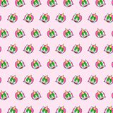 Unicorn - emoji pattern 44. Pattern of a emoji unicorn that can be used as a background, texture, prints or something else stock illustration
