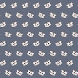 White tiger - emoji pattern 44. Pattern of a emoji white tiger that can be used as a background, texture, prints or something else royalty free illustration