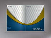 Pattern of empty brochure Royalty Free Stock Photos
