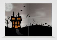 Pattern of empty brochure for halloween Royalty Free Stock Photos