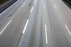Pattern of empty highway in grea with median stripes Stock Photography