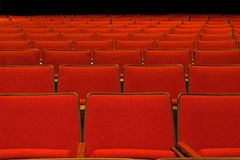 Pattern of empty red seats. Waiting for indoor event Royalty Free Stock Images