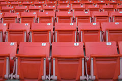 Empty Red Stadium Seats Royalty Free Stock Image