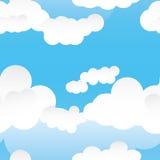 Pattern_eps inconsútiles de la nube Fotos de archivo libres de regalías
