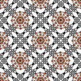 Pattern with ethnic simmetric ornaments Stock Photography