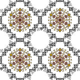 Pattern with ethnic simmetric ornaments Stock Image