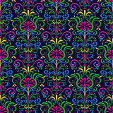 Pattern exotic flowers Royalty Free Stock Images