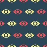 Simple vector illustration with ability to change. Pattern with eyes. Pattern with eyes. Simple vector illustration with ability to change royalty free illustration