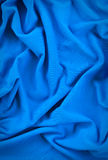 Pattern of fabric. Abstract background of blue fabric Stock Photos